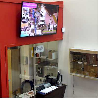 Music academy digital signage