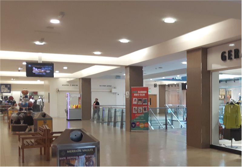 Repeat Signage promotes stores at Quayside Shopping Mall