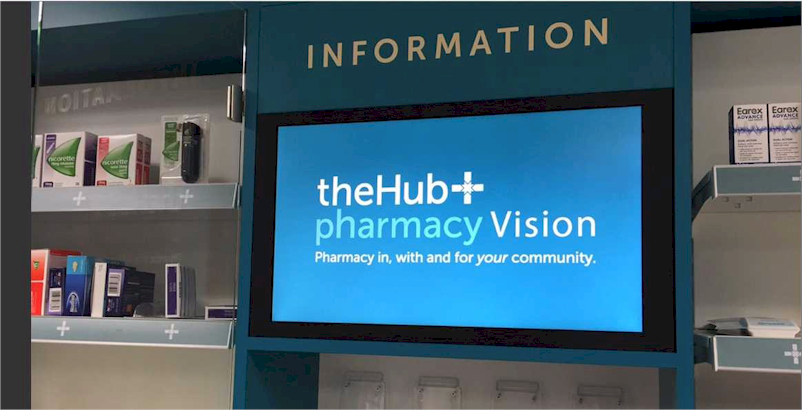 Repeat Signage at The Hub+ pharmacy Vision