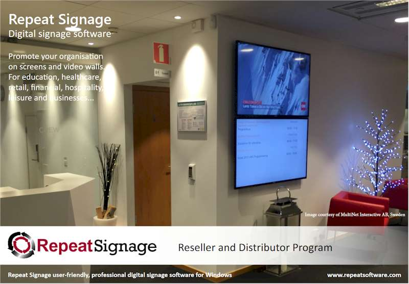 Repeat Signage reseller program