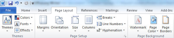 Page Layout in ms Word 2010 Word 2010 Page Colour Changing