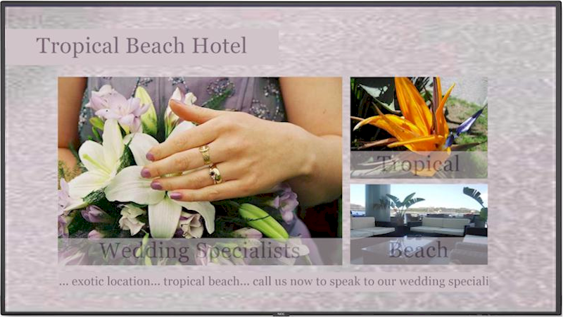 Repeat Signage for hotel weddings