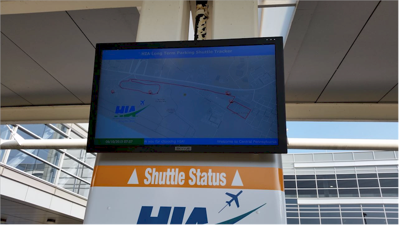 Repeat Signage at HIA shuttle bus stops