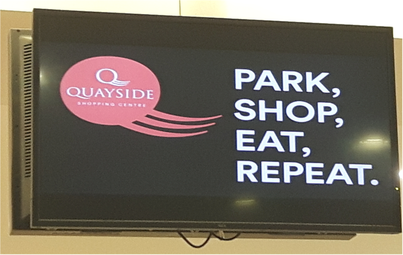 Repeat Signage software at Quayside Shopping Center