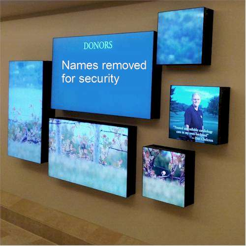 Repeat Signage Media Wall at US hospital